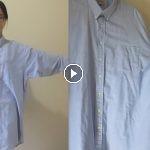 Cómo hacer un vestido de una camisa grande