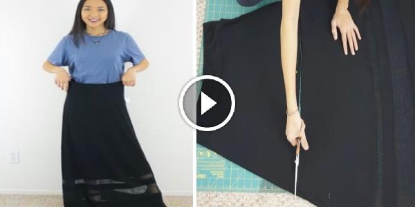 Transforma una falda en vestido