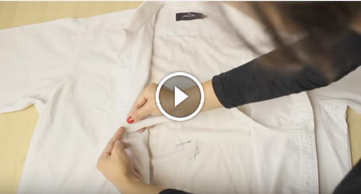 transforma una camisa de hombre en un vestido