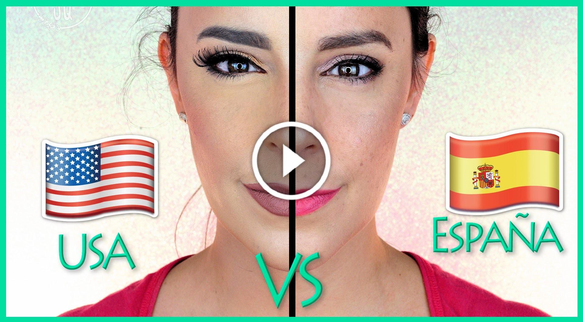 maquillaje usa vs españa