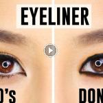 errores con el delineador de ojos
