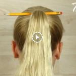 peinado usando un lapiz