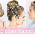 peinados para lucir en navidad