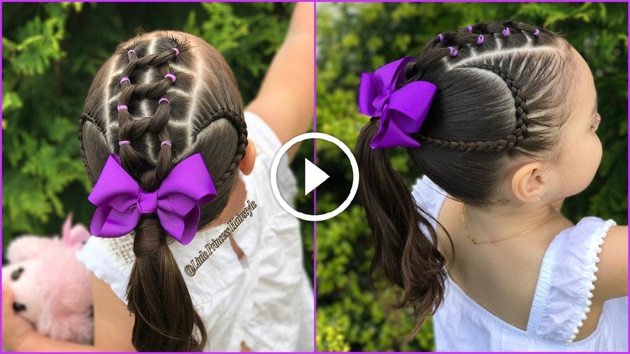 Peinados Con Ligas Y Trencitas Pegadas F 225 Cil De Hacer