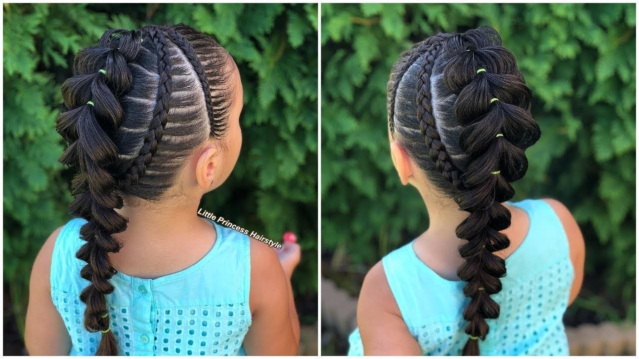Más agudo peinados niña Fotos de consejos de color de pelo - Peinados para niñas con trenzas cruzadas paso a paso